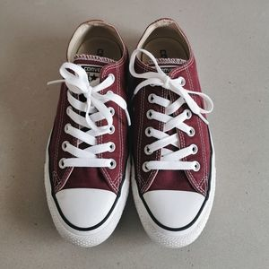 Burgundy Chuck Taylor All Star Low Tops